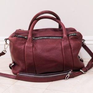 Zara Double Zip Leather Duffle Bag